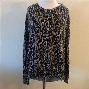 Torrid Leopard Print Crew Neck Sweater